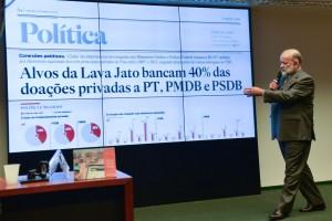 João Vaccari Neto expõe doações de empresas a todos os partidos na CPI da Petrobras. (Foto: Antonio Cruz/Agência Brasil)