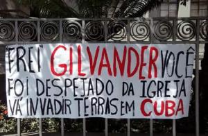 Faixa contra frei Gilvander