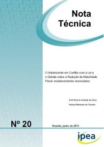 Nota técnica do IPEA sobre o adolescente em conflito com a lei e o debate sobre a redução da maioridade penal.