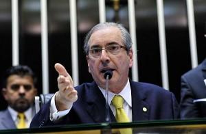 Eduardo Cunha, presidente da Câmara dos Deputados, durante sessão que aprovou a redução da maioridade penal. OAB, AMB, ministros do STF e partidos políticos dizem que a manobra foi inconstitucional. Foto: Luis Macedo/Câmara dos Deputados.